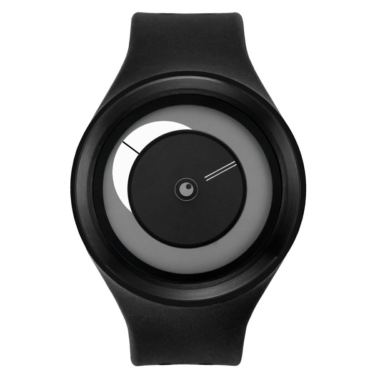 ZEROO CRESCENT MOON ゼロ 電池式クォーツ 腕時計 [W01102B03SR02] ブラック デザインウォッチ ペア用 メンズ レディース ユニセックス おしゃれ時計 デザイナーズ