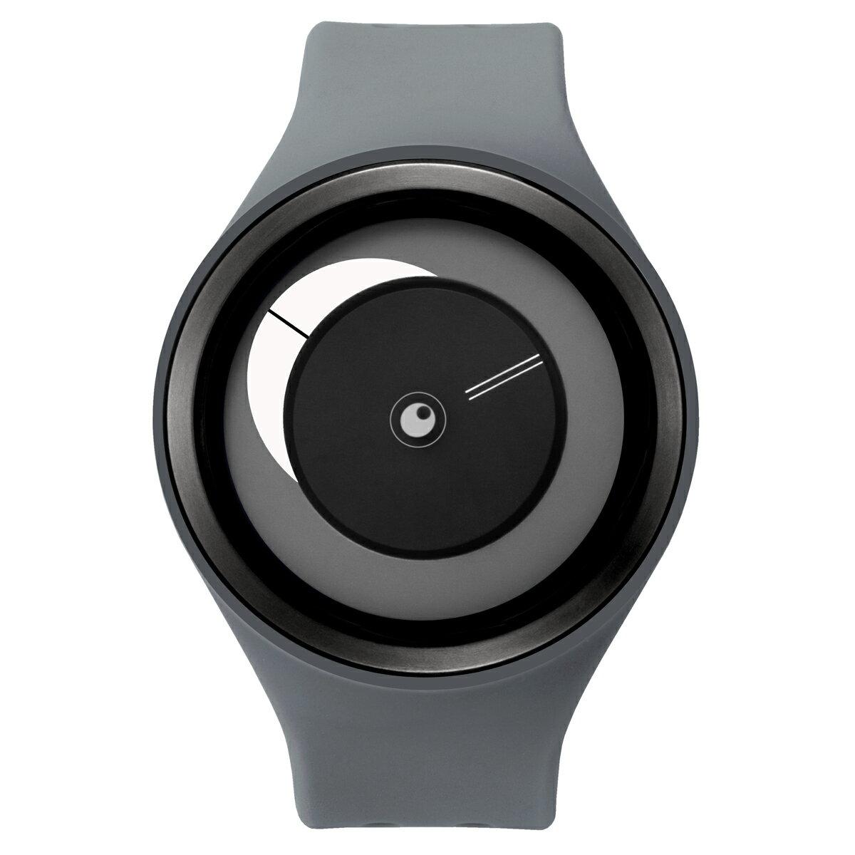 ZEROO CRESCENT MOON ゼロ 電池式クォーツ 腕時計 [W01102B03SR03] グレー デザインウォッチ ペア用 メンズ レディース ユニセックス おしゃれ時計 デザイナーズ
