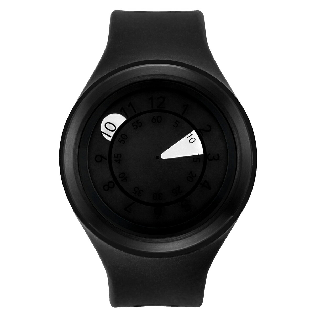 ZEROO AQUA DROP ゼロ 電池式クォーツ 腕時計 [W01201B03SR02] ブラック デザインウォッチ ペア用 メンズ レディース ユニセックス おしゃれ時計 デザイナーズ