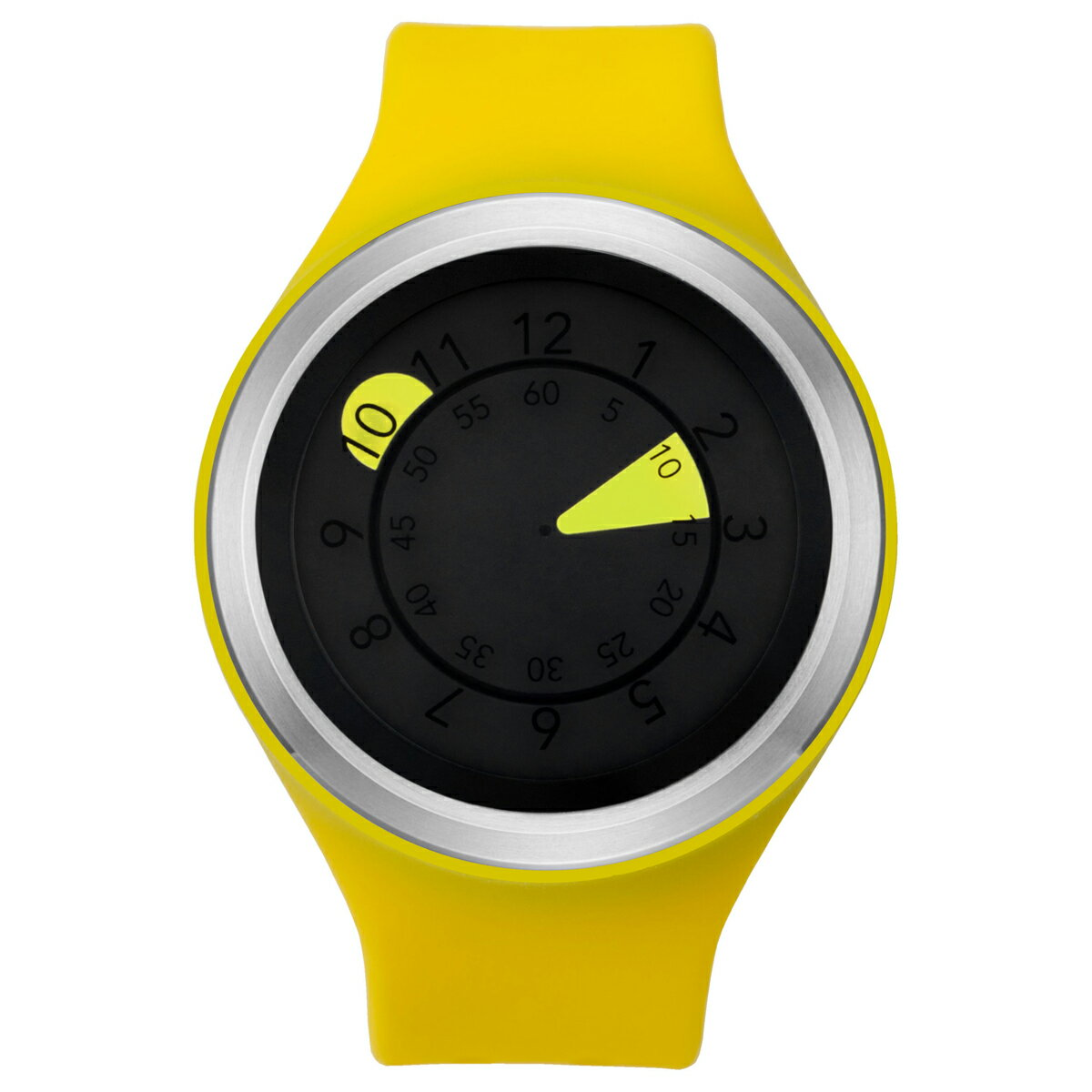 ZEROO AQUA DROP ゼロ 電池式クォーツ 腕時計 [W01203B01SR09] イエロー デザインウォッチ ペア用 メンズ レディース ユニセックス おしゃれ時計 デザイナーズ