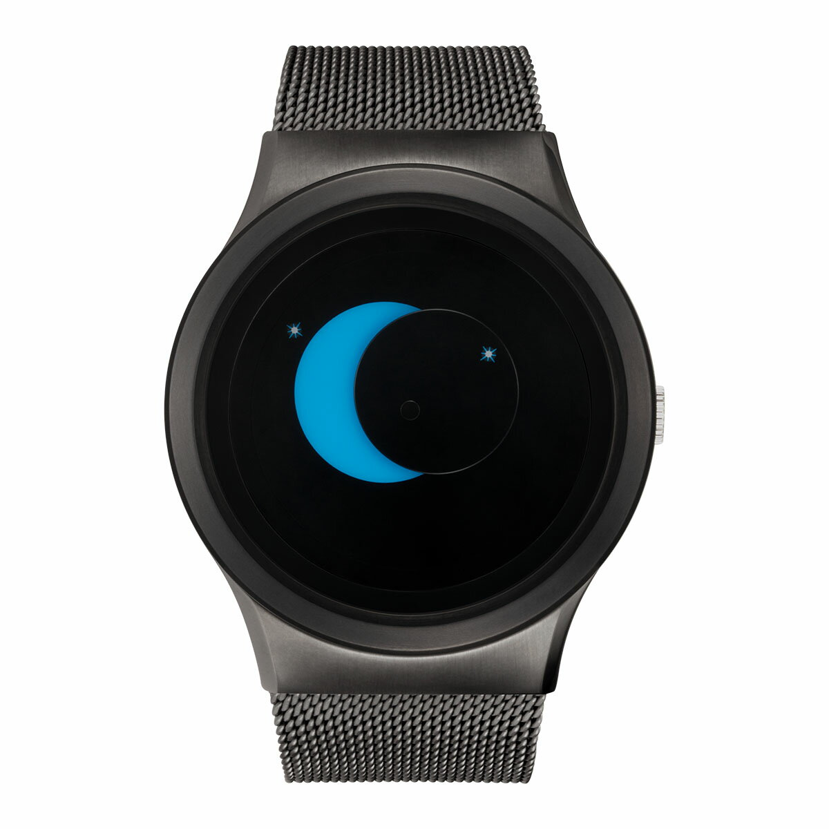 ZEROO SUPER MOON ゼロ 電池式クォーツ 腕時計 [W02006B02SM02] ブルー デザインウォッチ ペア用 メンズ レディース ユニセックス おしゃれ時計 デザイナーズ
