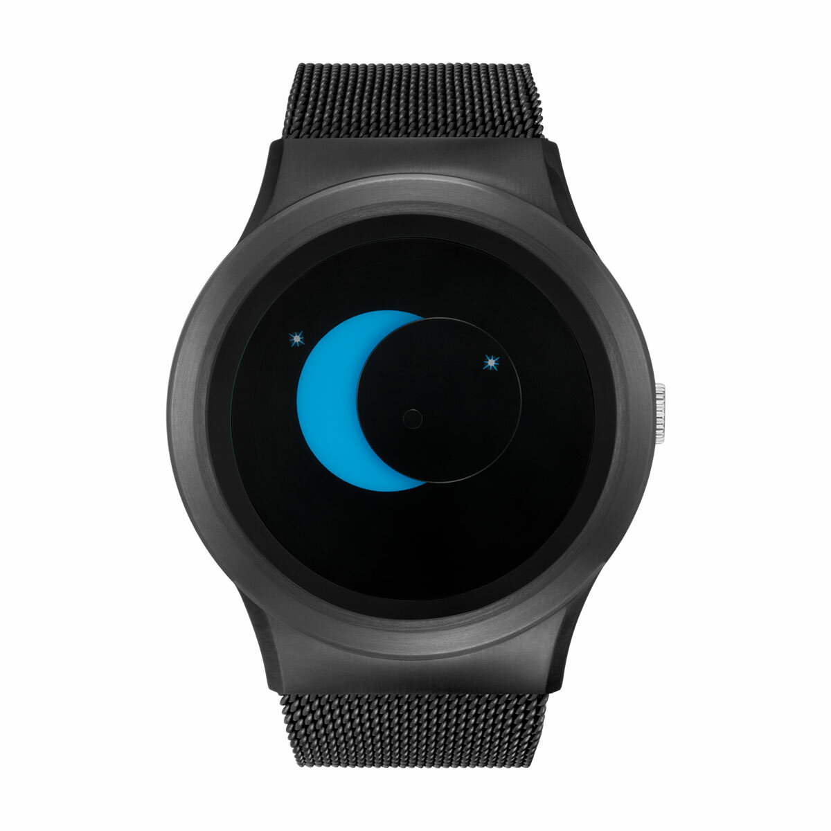 ZEROO SUPER MOON ゼロ 電池式クォーツ 腕時計 [W02006B03SM03] ブルー デザインウォッチ ペア用 メンズ レディース ユニセックス おしゃれ時計 デザイナーズ