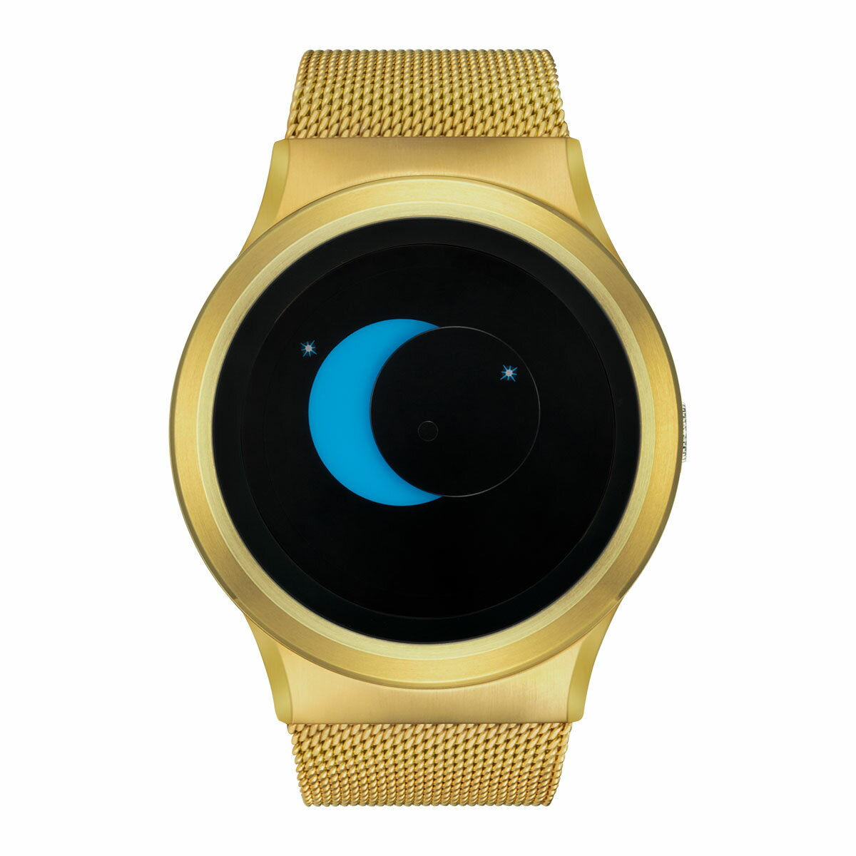 ZEROO SUPER MOON ゼロ 電池式クォーツ 腕時計 [W02006B04SM04] ブルー デザインウォッチ ペア用 メンズ レディース ユニセックス おしゃれ時計 デザイナーズ
