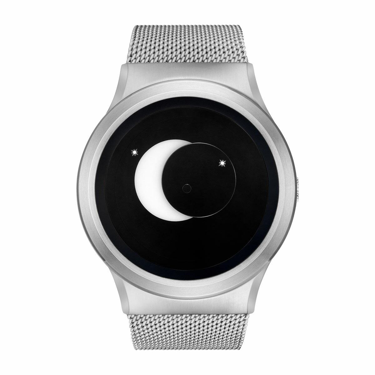 ZEROO SUPER MOON ゼロ 電池式クォーツ 腕時計 [W02007B01SM01] ホワイト デザインウォッチ ペア用 メンズ レディース ユニセックス おしゃれ時計 デザイナーズ