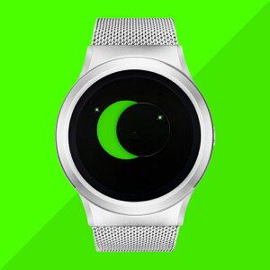 ZEROOSUPERMOONゼロ電池式クォーツ腕時計[W02008B01SM01]グリーン