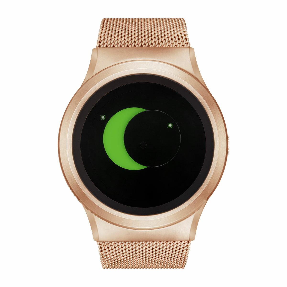 ZEROO SUPER MOON ゼロ 電池式クォーツ 腕時計 [W02008B05SM05] グリーン デザインウォッチ ペア用 メンズ レディース ユニセックス おしゃれ時計 デザイナーズ