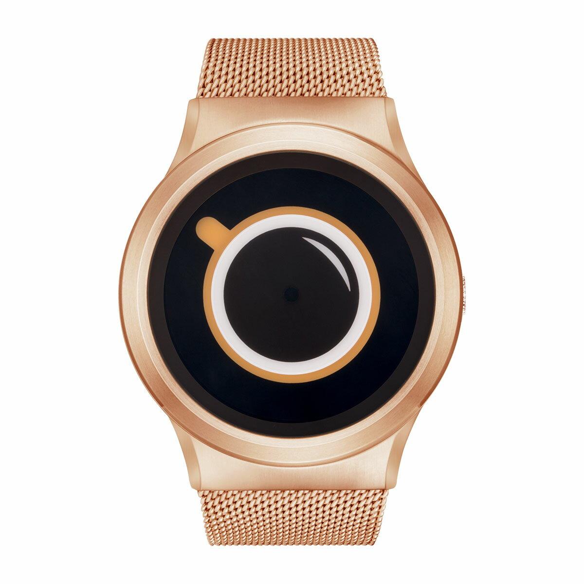 ZEROO COFFEE TIME ゼロ 電池式クォーツ 腕時計 [W03009B05SM05] ベージュ デザインウォッチ ペア用 メンズ レディース ユニセックス おしゃれ時計 デザイナーズ