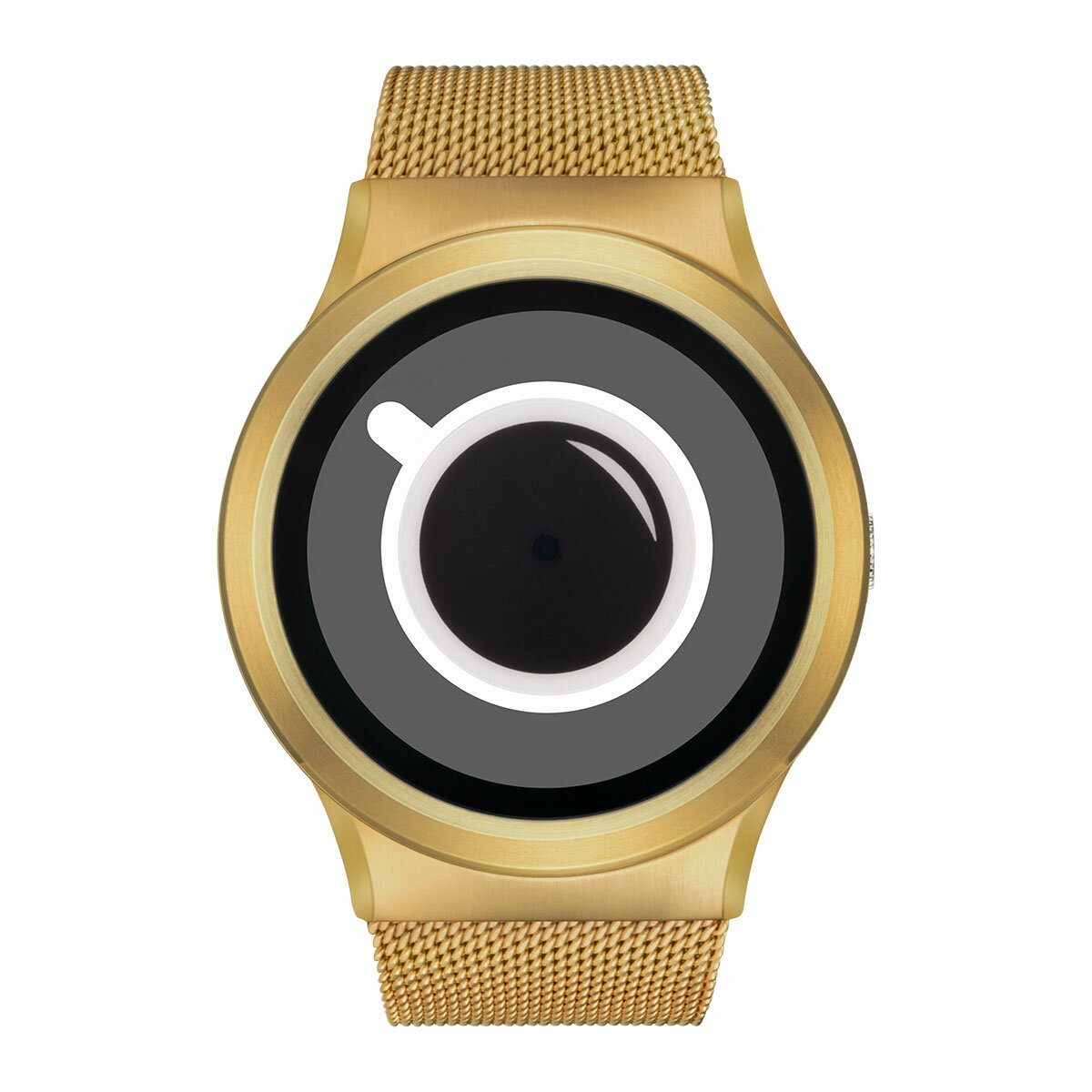 ZEROO COFFEE TIME ゼロ 電池式クォーツ 腕時計 [W03010B04SM04] ホワイト デザインウォッチ ペア用 メンズ レディース ユニセックス おしゃれ時計 デザイナーズ