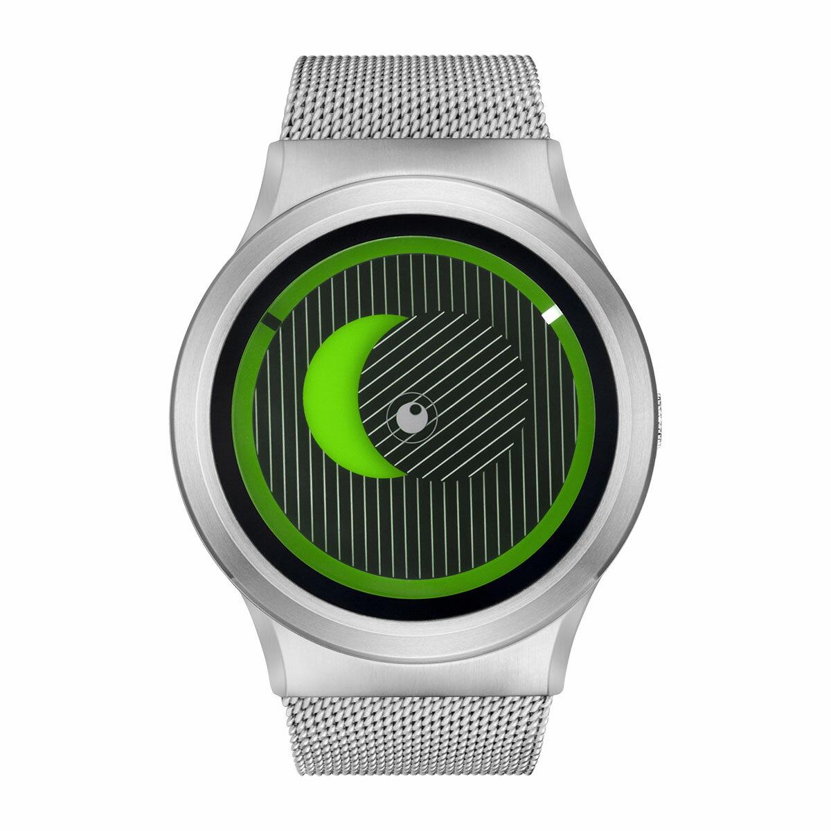 ZEROO SECRET UNIVERSE ゼロ 電池式クォーツ 腕時計 [W05014B01SM01] グリーン デザインウォッチ ペア用 メンズ レディース ユニセックス おしゃれ時計 デザイナーズ