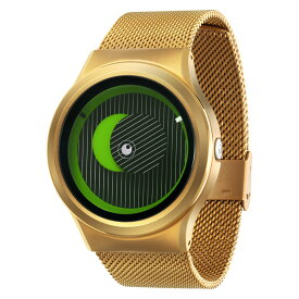ZEROO SECRET UNIVERSE ゼロ 電池式クォーツ 腕時計 [W05014B04SM04] グリーン デザインウォッチ ペア用 メンズ レディース ユニセックス おしゃれ時計 デザイナーズ