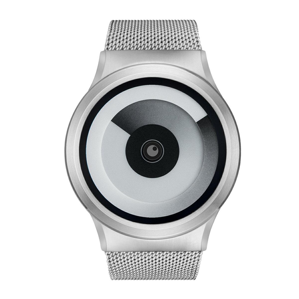 ZEROO SPIRAL GALAXY ゼロ 電池式クォーツ 腕時計 [W06016B01SM01] ホワイト デザインウォッチ ペア用 メンズ レディース ユニセックス おしゃれ時計 デザイナーズ