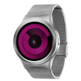 ZEROO SPIRAL GALAXY ゼロ 電池式クォーツ 腕時計 [W06017B01SM01] マゼンタ デザインウォッチ ペア用 メンズ レディース ユニセックス おしゃれ時計 デザイナーズ