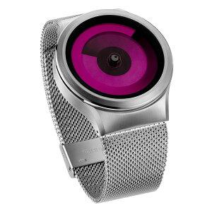 ZEROOSPIRALGALAXYゼロ電池式クォーツ腕時計[W06017B01SM01]マゼンタ