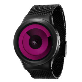 ZEROO SPIRAL GALAXY ゼロ 電池式クォーツ 腕時計 [W06017B03SM03] マゼンタ デザインウォッチ ペア用 メンズ レディース ユニセックス おしゃれ時計 デザイナーズ