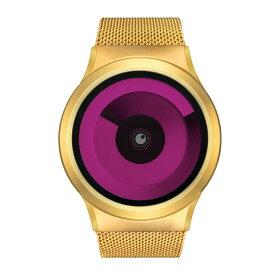 24eb48a508 ZEROO SPIRAL GALAXY ゼロ 電池式クォーツ 腕時計 [W06017B04SM04] マゼンタ デザインウォッチ ペア用