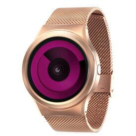 ZEROO SPIRAL GALAXY ゼロ 電池式クォーツ 腕時計 [W06017B05SM05] マゼンタ デザインウォッチ ペア用 メンズ レディース ユニセックス おしゃれ時計 デザイナーズ