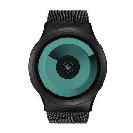 b2240cc8bf ZEROO SPIRAL GALAXY ゼロ 電池式クォーツ 腕時計 [W06018B03SM03] グリーン デザインウォッチ ペア用