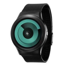 ZEROO SPIRAL GALAXY ゼロ 電池式クォーツ 腕時計 [W06018B03SM03] グリーン デザインウォッチ ペア用 メンズ レディース ユニセックス おしゃれ時計 デザイナーズ