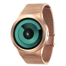 ZEROO SPIRAL GALAXY ゼロ 電池式クォーツ 腕時計 [W06018B05SM05] グリーン デザインウォッチ ペア用 メンズ レディース ユニセックス おしゃれ時計 デザイナーズ