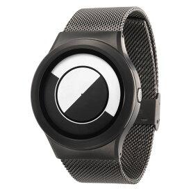 ZEROO QUARTER MOON ゼロ 電池式クォーツ 腕時計 [W08031B02SM02] ホワイト デザインウォッチ ペア用 メンズ レディース ユニセックス おしゃれ時計 デザイナーズ