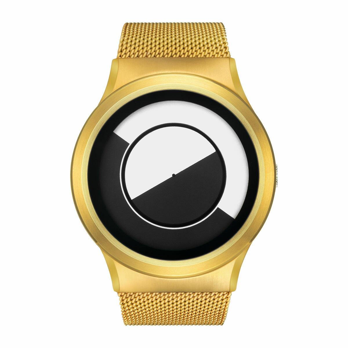 ZEROO QUARTER MOON ゼロ 電池式クォーツ 腕時計 [W08031B04SM04] ホワイト デザインウォッチ ペア用 メンズ レディース ユニセックス おしゃれ時計 デザイナーズ