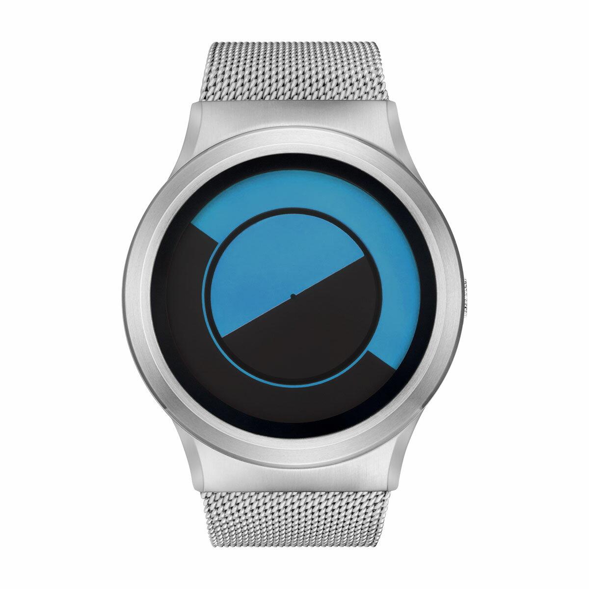 ZEROO QUARTER MOON ゼロ 電池式クォーツ 腕時計 [W08032B01SM01] ブルー デザインウォッチ ペア用 メンズ レディース ユニセックス おしゃれ時計 デザイナーズ