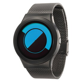 ZEROO QUARTER MOON ゼロ 電池式クォーツ 腕時計 [W08032B02SM02] ブルー デザインウォッチ ペア用 メンズ レディース ユニセックス おしゃれ時計 デザイナーズ
