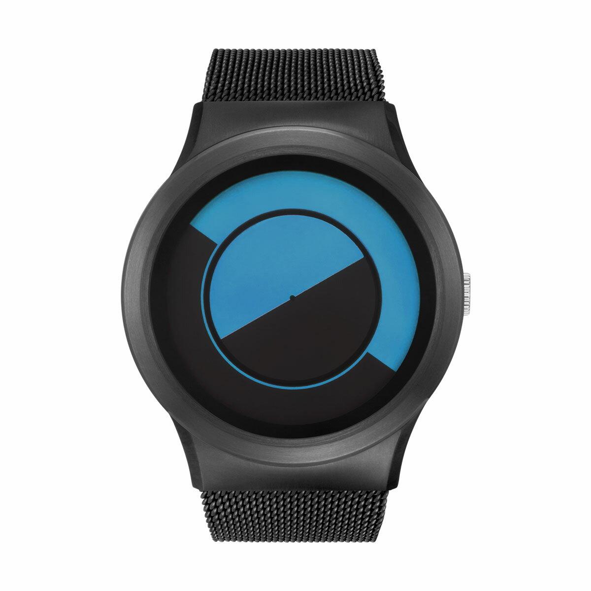 ZEROO QUARTER MOON ゼロ 電池式クォーツ 腕時計 [W08032B03SM03] ブルー デザインウォッチ ペア用 メンズ レディース ユニセックス おしゃれ時計 デザイナーズ