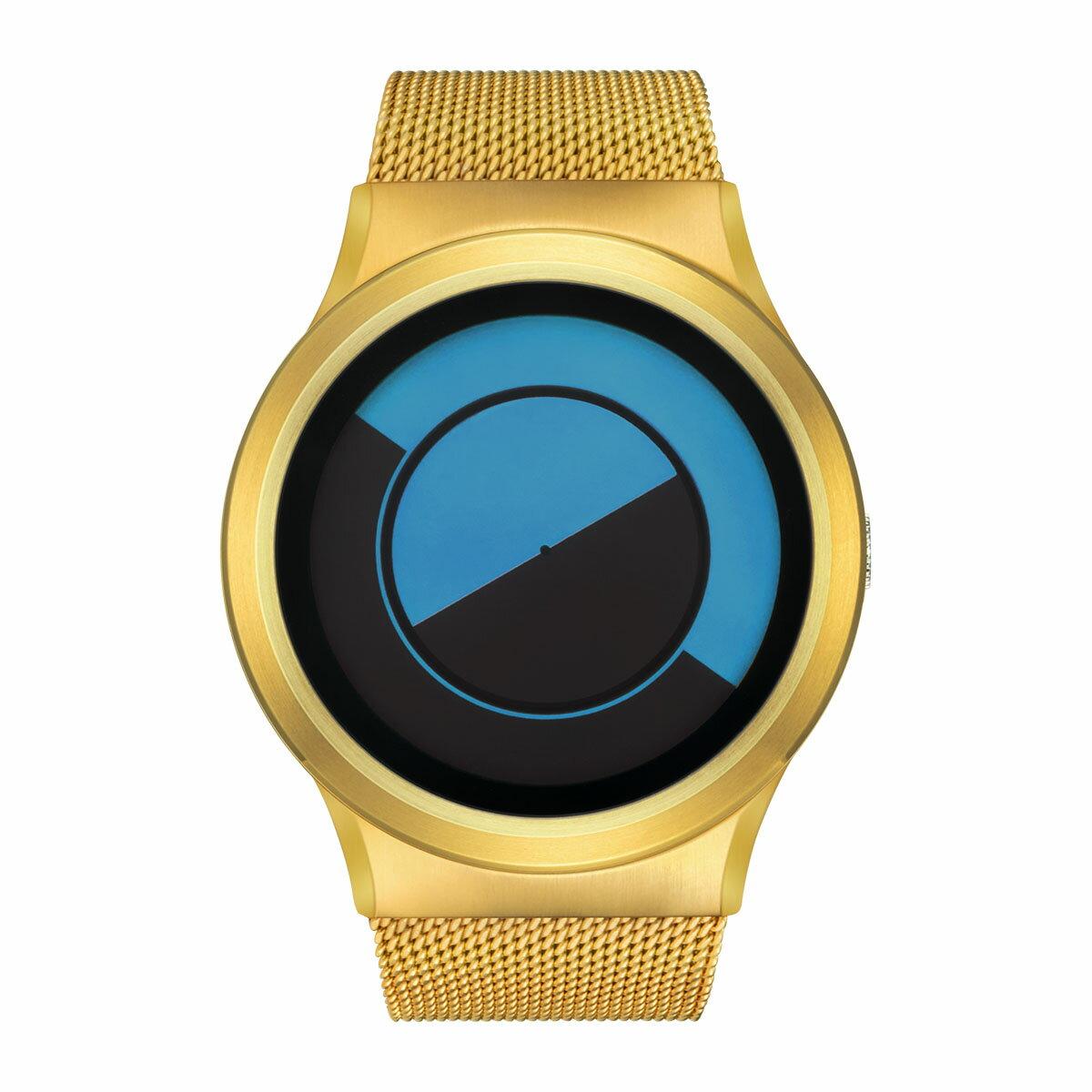 ZEROO QUARTER MOON ゼロ 電池式クォーツ 腕時計 [W08032B04SM04] ブルー デザインウォッチ ペア用 メンズ レディース ユニセックス おしゃれ時計 デザイナーズ