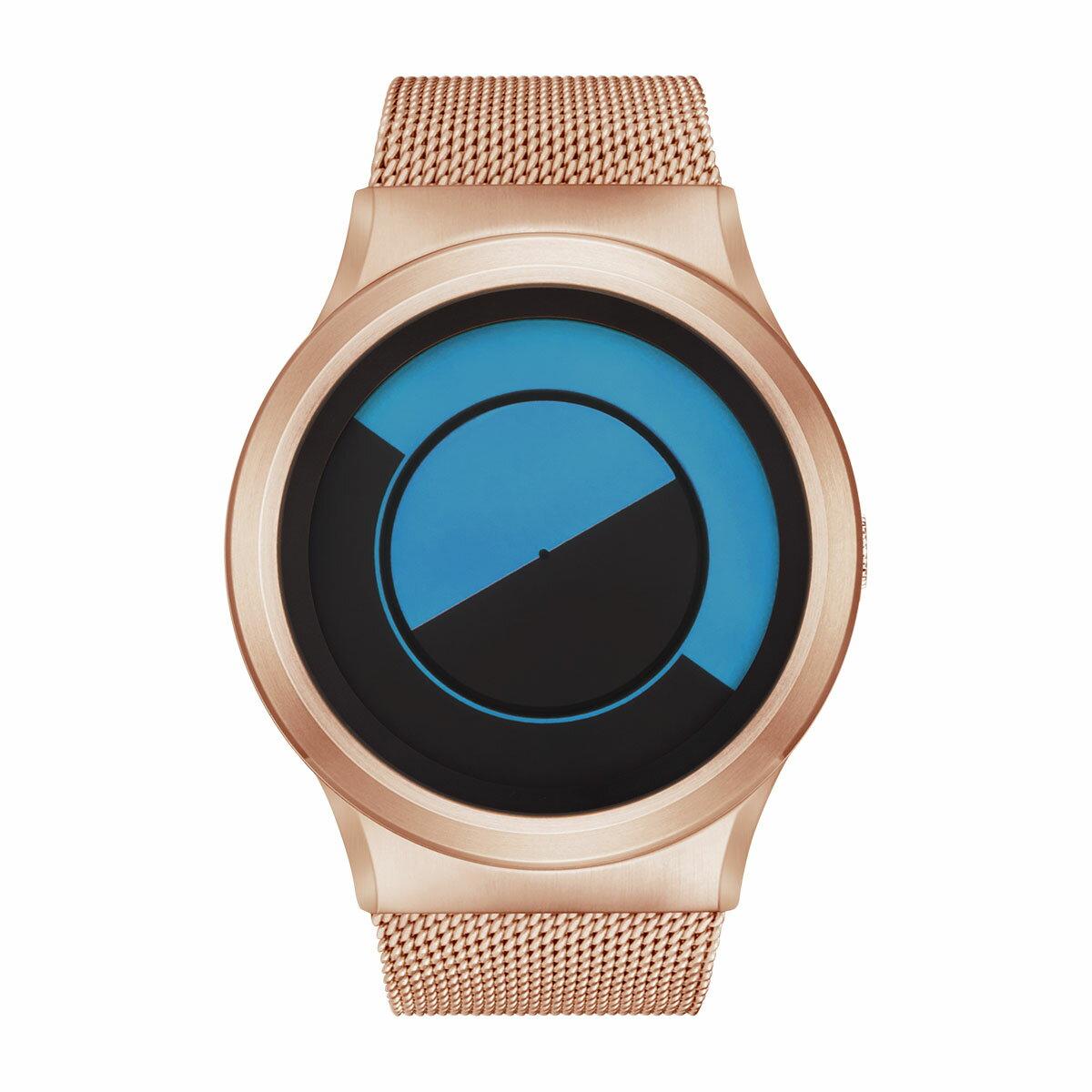 ZEROO QUARTER MOON ゼロ 電池式クォーツ 腕時計 [W08032B05SM05] ブルー デザインウォッチ ペア用 メンズ レディース ユニセックス おしゃれ時計 デザイナーズ