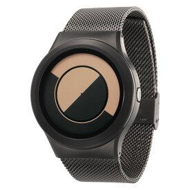ZEROO QUARTER MOON ゼロ 電池式クォーツ 腕時計 [W08033B02SM02] ベージュ デザインウォッチ ペア用 メンズ レディース ユニセックス おしゃれ時計 デザイナーズ