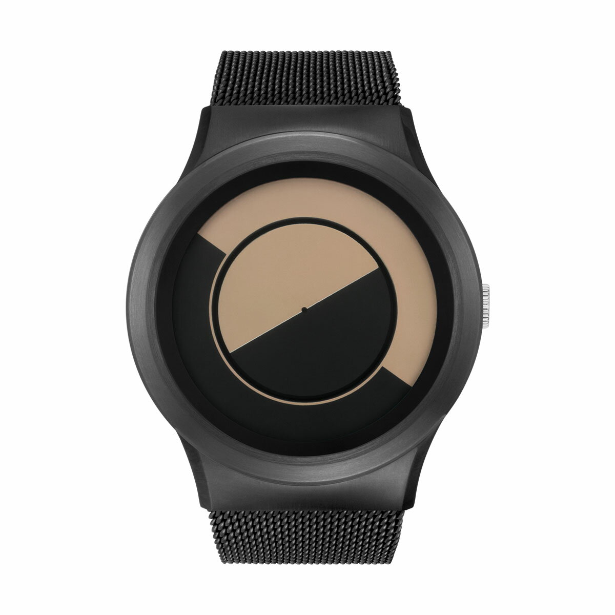 ZEROO QUARTER MOON ゼロ 電池式クォーツ 腕時計 [W08033B03SM03] ベージュ デザインウォッチ ペア用 メンズ レディース ユニセックス おしゃれ時計 デザイナーズ