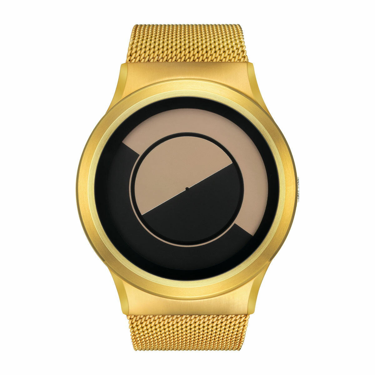 ZEROO QUARTER MOON ゼロ 電池式クォーツ 腕時計 [W08033B04SM04] ベージュ デザインウォッチ ペア用 メンズ レディース ユニセックス おしゃれ時計 デザイナーズ