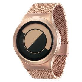 ZEROO QUARTER MOON ゼロ 電池式クォーツ 腕時計 [W08033B05SM05] ベージュ デザインウォッチ ペア用 メンズ レディース ユニセックス おしゃれ時計 デザイナーズ