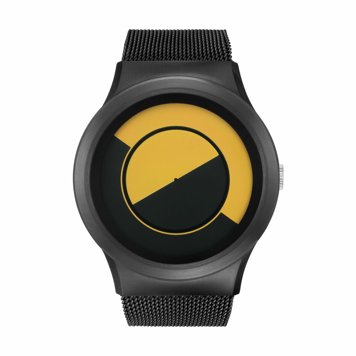 ZEROO QUARTER MOON ゼロ 電池式クォーツ 腕時計 [W08034B03SM03] イエロー デザインウォッチ ペア用 メンズ レディース ユニセックス おしゃれ時計 デザイナーズ