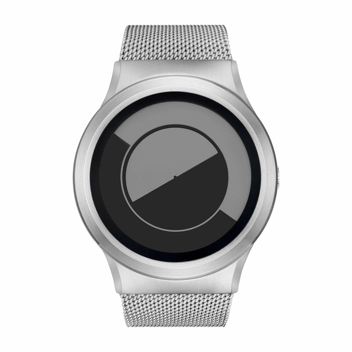 ZEROO QUARTER MOON ゼロ 電池式クォーツ 腕時計 [W08035B01SM01] グレイ デザインウォッチ ペア用 メンズ レディース ユニセックス おしゃれ時計 デザイナーズ