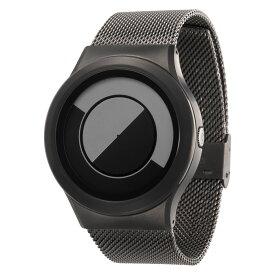 ZEROO QUARTER MOON ゼロ 電池式クォーツ 腕時計 [W08035B02SM02] グレイ デザインウォッチ ペア用 メンズ レディース ユニセックス おしゃれ時計 デザイナーズ
