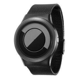 ZEROO QUARTER MOON ゼロ 電池式クォーツ 腕時計 [W08035B03SM03] グレイ デザインウォッチ ペア用 メンズ レディース ユニセックス おしゃれ時計 デザイナーズ