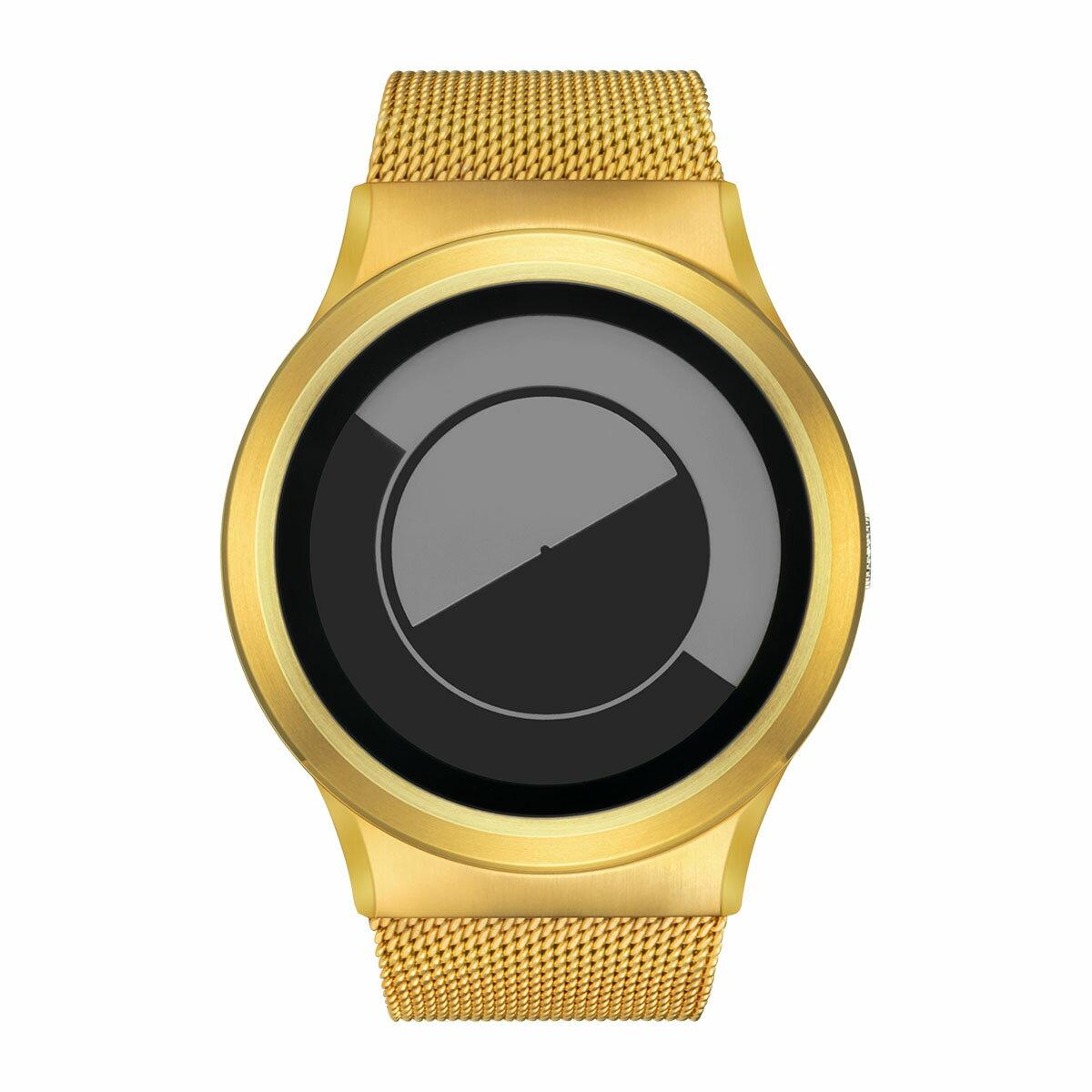 ZEROO QUARTER MOON ゼロ 電池式クォーツ 腕時計 [W08035B04SM04] グレイ デザインウォッチ ペア用 メンズ レディース ユニセックス おしゃれ時計 デザイナーズ