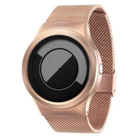 ZEROO QUARTER MOON ゼロ 電池式クォーツ 腕時計 [W08035B05SM05] グレイ デザインウォッチ ペア用 メンズ レディース ユニセックス おしゃれ時計 デザイナーズ
