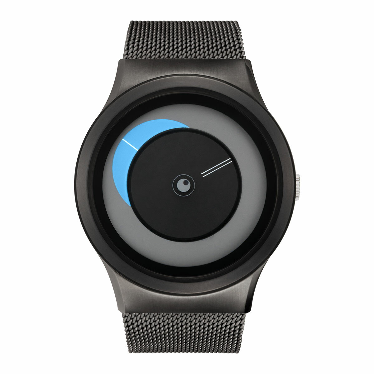 ZEROO CRESCENT MOON ゼロ 電池式クォーツ 腕時計 [W09036B02SM02] ブルー デザインウォッチ ペア用 メンズ レディース ユニセックス おしゃれ時計 デザイナーズ