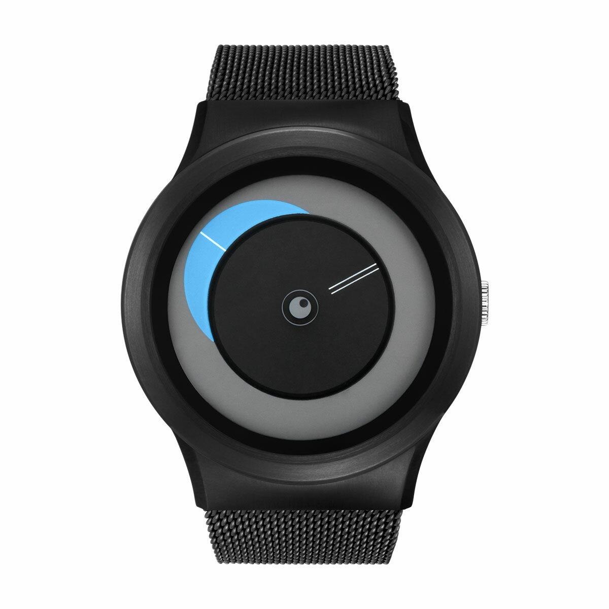ZEROO CRESCENT MOON ゼロ 電池式クォーツ 腕時計 [W09036B03SM03] ブルー デザインウォッチ ペア用 メンズ レディース ユニセックス おしゃれ時計 デザイナーズ