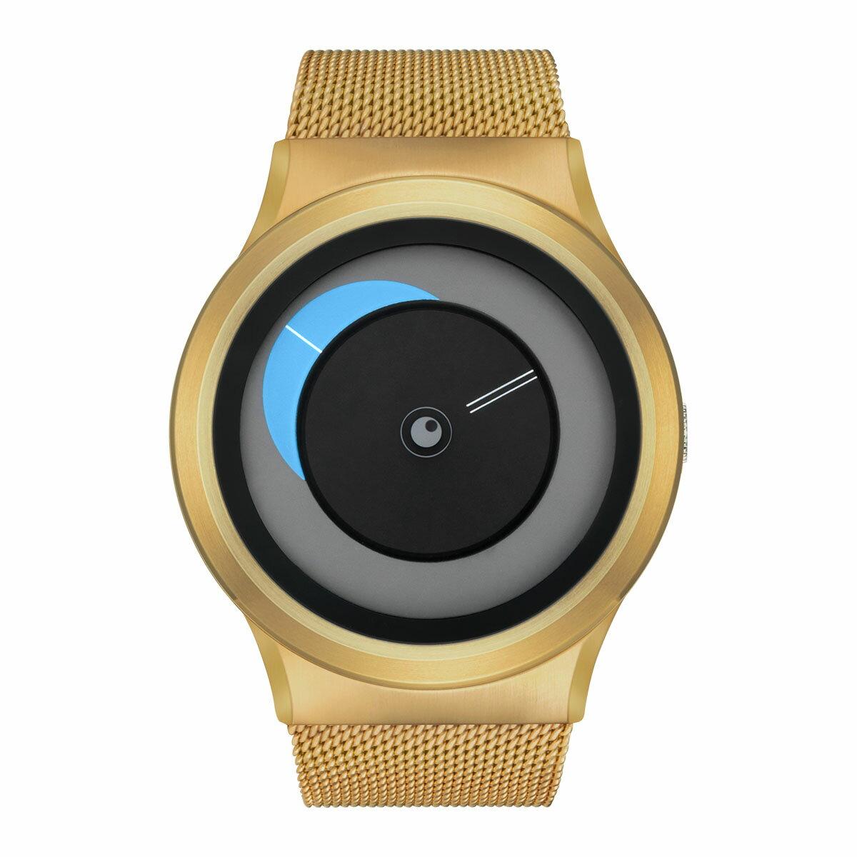 ZEROO CRESCENT MOON ゼロ 電池式クォーツ 腕時計 [W09036B04SM04] ブルー デザインウォッチ ペア用 メンズ レディース ユニセックス おしゃれ時計 デザイナーズ