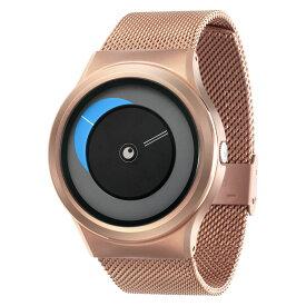ZEROO CRESCENT MOON ゼロ 電池式クォーツ 腕時計 [W09036B05SM05] ブルー デザインウォッチ ペア用 メンズ レディース ユニセックス おしゃれ時計 デザイナーズ