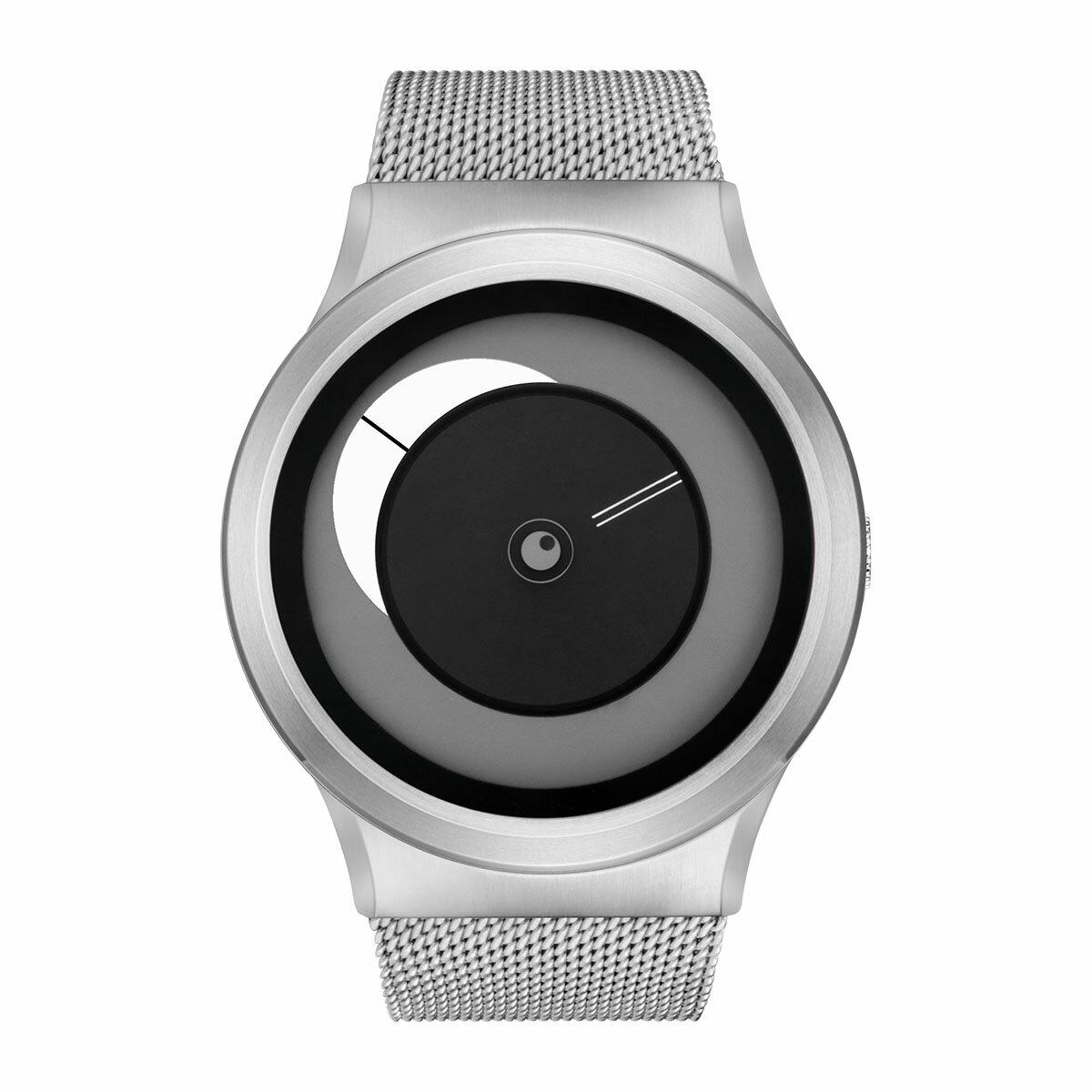 ZEROO CRESCENT MOON ゼロ 電池式クォーツ 腕時計 [W09037B01SM01] ホワイト デザインウォッチ ペア用 メンズ レディース ユニセックス おしゃれ時計 デザイナーズ