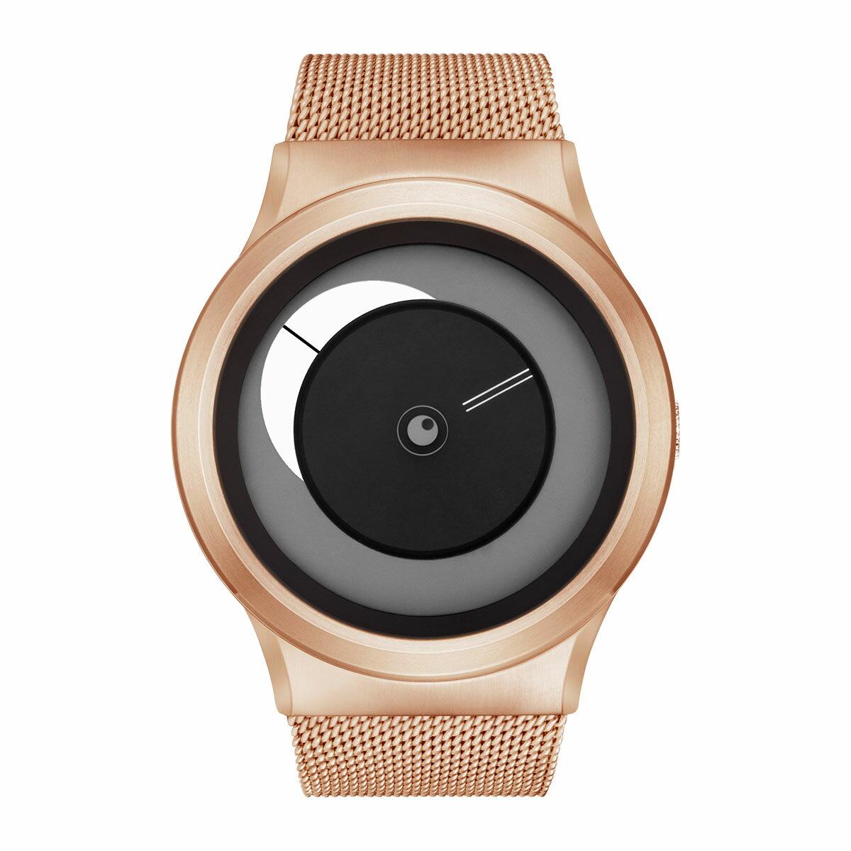ZEROO CRESCENT MOON ゼロ 電池式クォーツ 腕時計 [W09037B05SM05] ホワイト デザインウォッチ ペア用 メンズ レディース ユニセックス おしゃれ時計 デザイナーズ