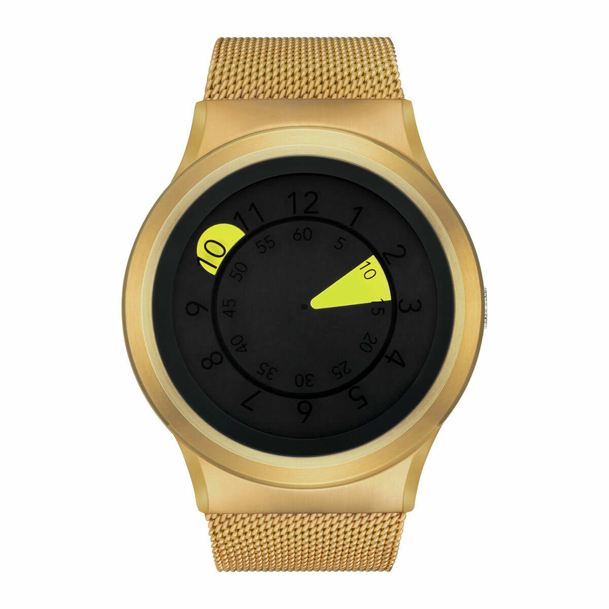 ZEROO AQUA DROP ゼロ 電池式クォーツ 腕時計 [W10040B04SM04] イエロー デザインウォッチ ペア用 メンズ レディース ユニセックス おしゃれ時計 デザイナーズ