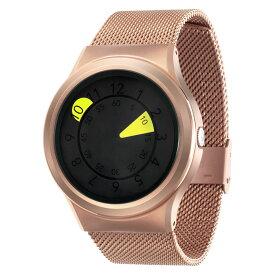 ZEROO AQUA DROP ゼロ 電池式クォーツ 腕時計 [W10040B05SM05] イエロー デザインウォッチ ペア用 メンズ レディース ユニセックス おしゃれ時計 デザイナーズ