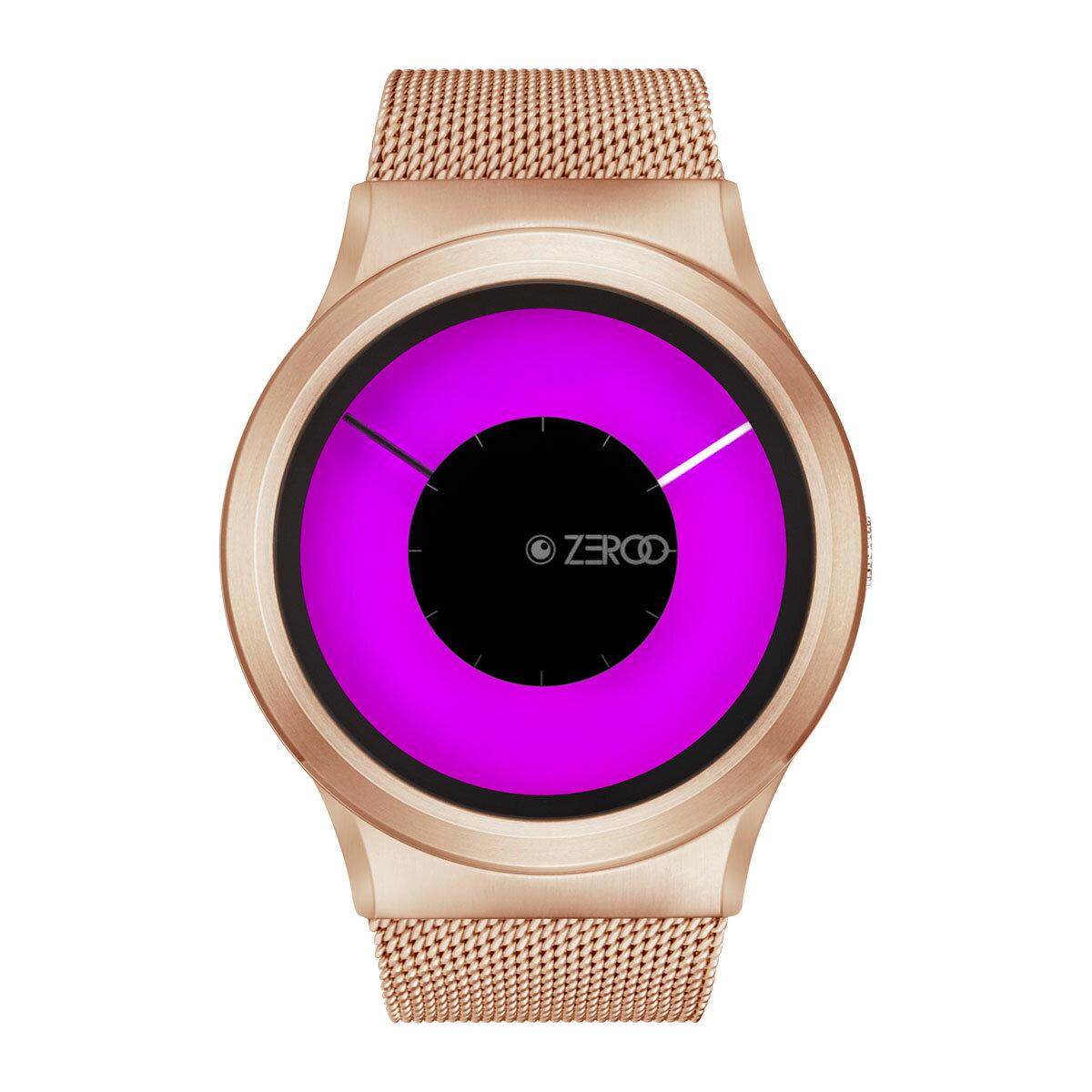 ZEROO MAGIA AURORA ゼロ 電池式クォーツ 腕時計 [W11025B05SM05] ピンク デザインウォッチ ペア用 メンズ レディース ユニセックス おしゃれ時計 デザイナーズ