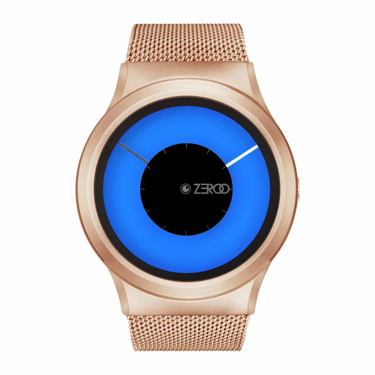 ZEROO MAGIA AURORA ゼロ 電池式クォーツ 腕時計 [W11026B05SM05] ブルー デザインウォッチ ペア用 メンズ レディース ユニセックス おしゃれ時計 デザイナーズ